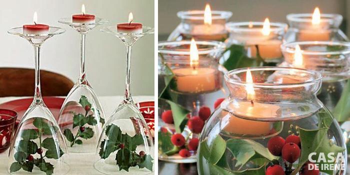 Mini velas com vidro