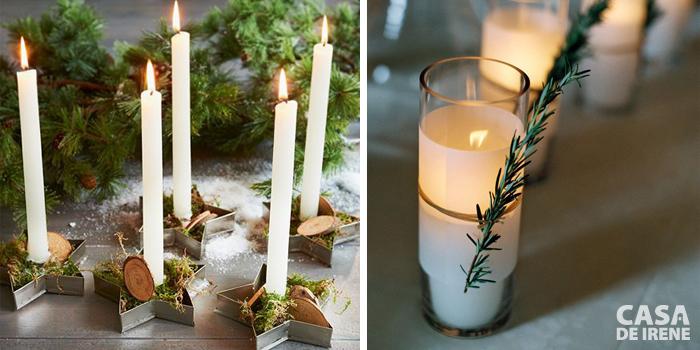 A luz de velas - cortadores de biscoito e copinho com alecrim