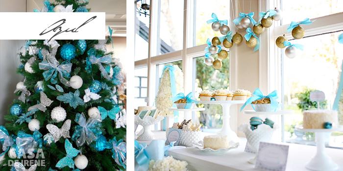Decoração de Natal em azul