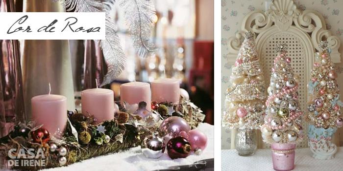 Decoração de Natal em rosa