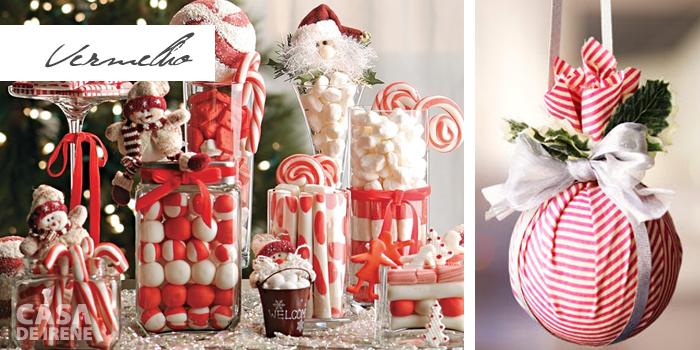 Decoração de Natal em vermelho