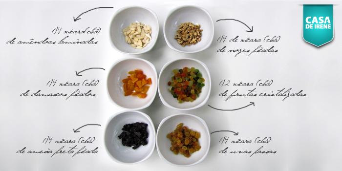 Ingredientes Bolo Rei