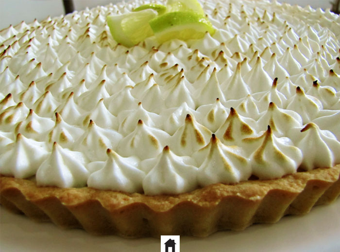 Detalhe da torta de limão