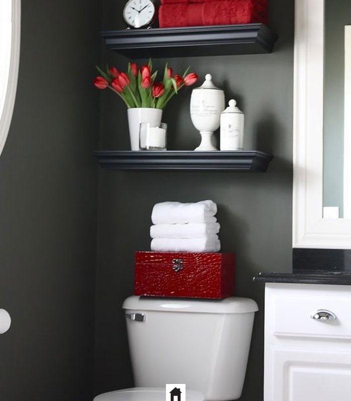 Decoração de banheiro Vermelha