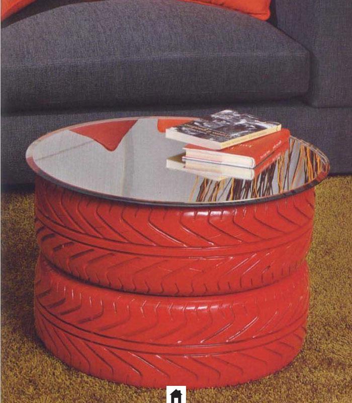 Mesa de centro de pneus