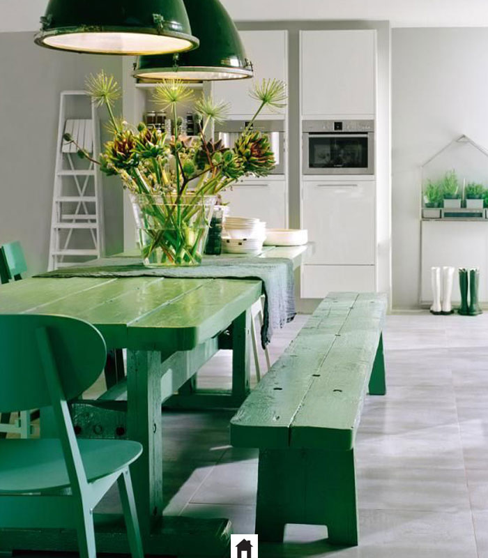 Resultado de imagem para mesa laqueada verde