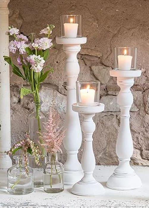 Vintage Geschirr Kerzenhalter