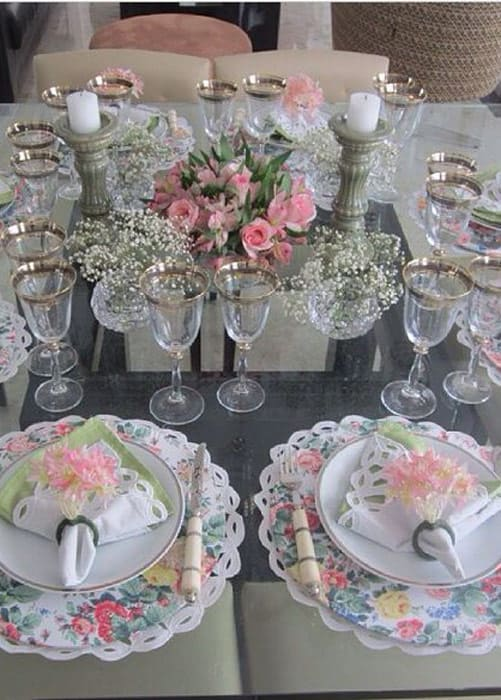 Vintage Stil gedeckten Tisch